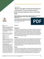 Effective Coverage of Essential Antenatal Care