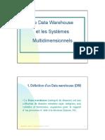 Entrepot de Donnees Et Systemes Multidimesionnels