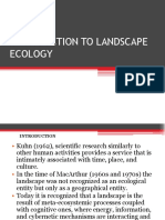 introduction to landscape ecology