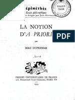 DUFRENNE, Mikel - La notion d'apriori.pdf