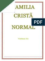 FAMÍLIA CRISTÃ NORMAL