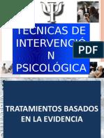 técnicas intervención psicología