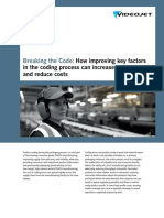 Videojet - Breaking the Code - How Improving Key Factors in the Coding Process Can Increase Productivity and Reduce Costs