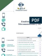 Estadísticas Sectoriales Telecomunicaciones 2018 c