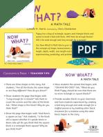 Now What? A Math Tale by Robie H. Harris Teacher Tip Card