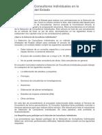 Selección de Consultores Individuales en La Contratación Del Estado
