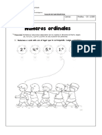 Escuela Valentín Letelier Números Ordinales 1° Básico