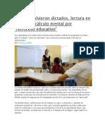 Francia.volvieron Dictados, Lectura en Voz Alta y Cálculo Mental Por Retroceso Educativo