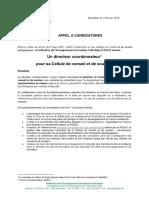 2019-02-13 Appel Candidature Cpc Fesec 2019