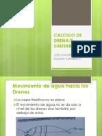 CALCULO DE DRENAJES