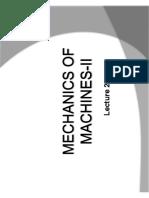 Mechanics of Machine Lecture 5
