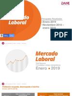 Tasa de desempleo en Colombia para enero de 2019