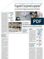 Genova, al G8 agenti USA pronti a sparare