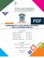 Estimación de La Tasa Natural de Interés Para La Economía Peruana Paper 3
