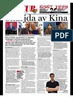 """""""Snärjda av Kina"""", för Expressen"""