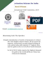 14 Gold Monetisation Scheme Errol D'Souza