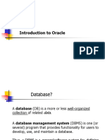 Introduction for oracle