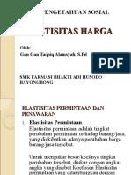 ELASTISITAS HARGA