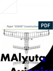 Flying 3D Paper Airplane Construction Manual (Cutout Nets Included!)