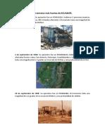 Terremotos Más Fuertes de ECUADOR