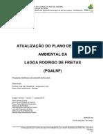 Plano de Gestão Ambiental Da Lagoa Rodrigo de Freitas -2013