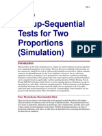 Group-Sequential Tests for Two Proportions (Simulation)