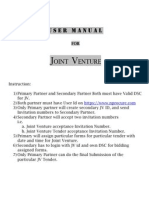 Joint Venture User Manual