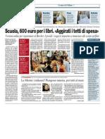 Scuola, 600 euro per i libri