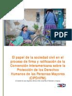 """""""El papel de la sociedad civil en el proceso de firma y ratificación de la Convención Interamericana sobre la Protección de los Derechos Humanos de las Personas Mayores""""."""