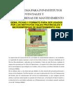 Volumen Nº6 -Informe de Mantenimiento Rutinario y Periodico-componente de Ingenieria
