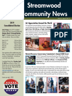 Streamwood Newsletter, March-April 2019