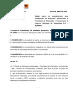 Portaria 52 Iplan Rio - Solicitação de Serviços de Informática