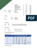 Abutment Design Spreadsheet format