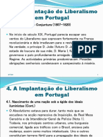 A Implantacao Do Liberalismo Em Portugal