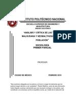 Teoria Malhusiana y Neomalthusiana de La Población