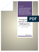2017-18 Bullying Data Report, The Portage Public Schools
