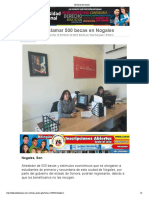 13-02-19 - El Diario de Sonora - Sin Reclamar 500 Becas en Nogales