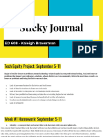 ed 608 sticky journal