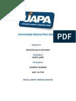 Trabajo Final - Educacion Para La Diversidad - Ayadelky Guzman