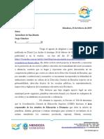 Respuesta Al Intendente de San Martín - 27-02-2019
