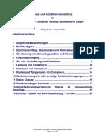 Preis- und Konditionsverzeichnis