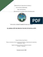 Guia de Elaboracion de Proyectos de Investigacion