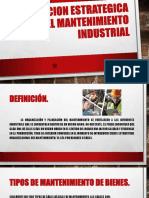 Planeacion Estrategica Del Mantenimiento Industrial Presentacion