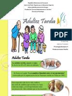 Adultez Tardía. Diapositivas Evolutiva