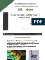 Plataformas y Sensores