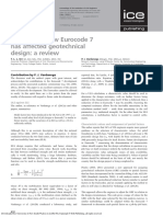 Discussion How Eurocode 7 Has Affected Geotechnical Design a Review