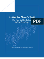 Getting Our Money's Wotrth -- The Case for IDA Reform in New York State