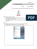 Practica 1. Introduccion a Java.