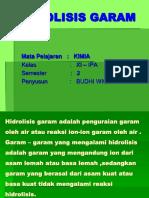 Hidrolisis Garam