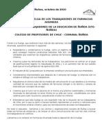 Declaracion de Apoyo a Sindicato de Trabajadore/as de Farmacias Ahumada
